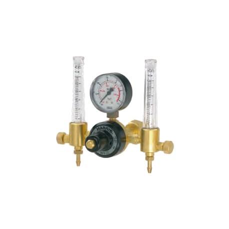 Riduttore Argon-miscele, 15 Lpm, doppio flussometro